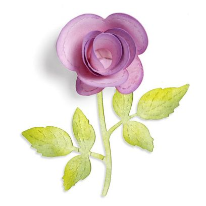 Fustella Rosa in 3D con Ramo Sizzlits Flower 3D & Vine
