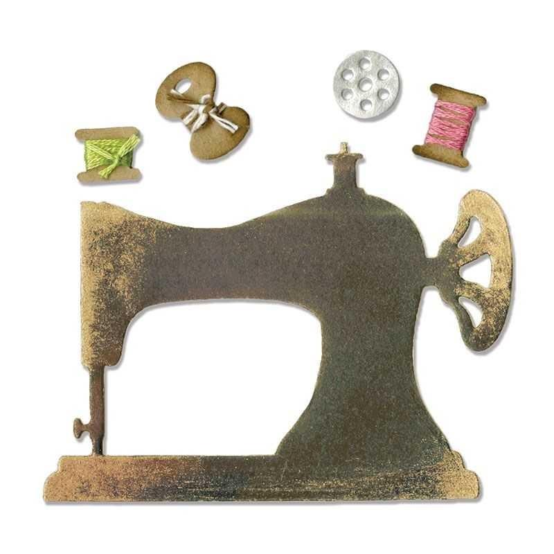Fustella Macchia per Cucire Sizzlits Sewing Machine & Bobbins