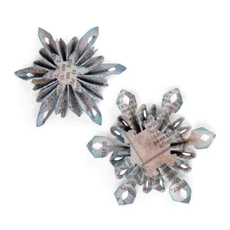 Fustella Rosette - Sizzlits Mini Snowflake Rosettes - 1