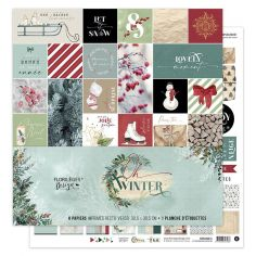 Floriléges Carte da Scrap - Oho Winter! - 1