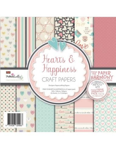 Carte da scrap Polkadoodles Hearts and Happiness - 1