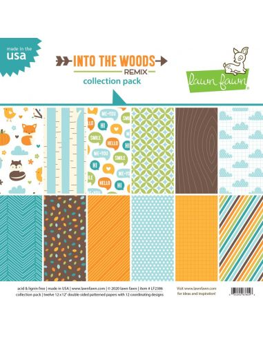 Paper Pad Lawn Fawn Into the Woods Remix - 2