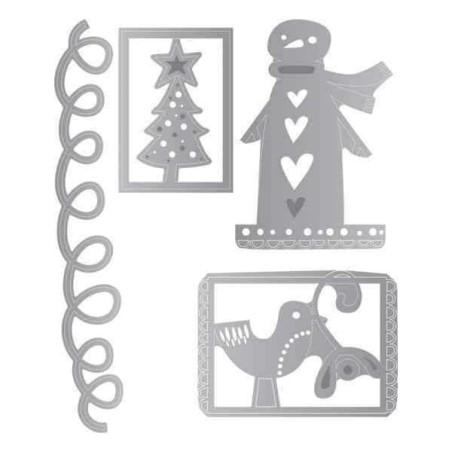 Fustella Natale - Thinlits Christmas Trims 2 - 2