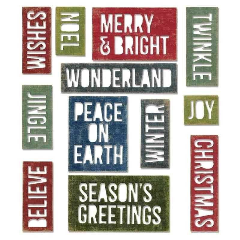 Fustella Parole Natale - Thinlits Holiday Words Block - 1