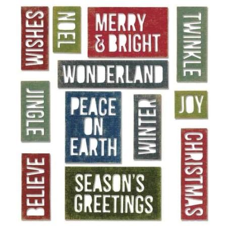 Fustella Natale - Framelits Collage Frames Set