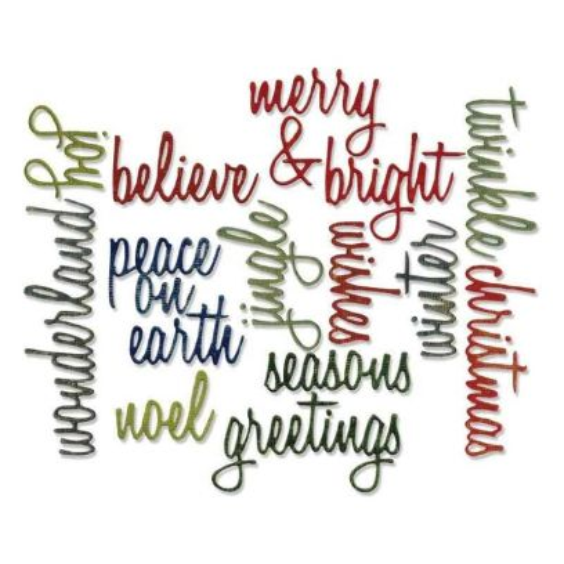 Fustella Parole per Natale - Thinlits Holiday Words Script - 1