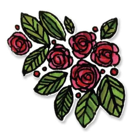 Fustella e Timbro Rose - Framelits Beautiful You - 1