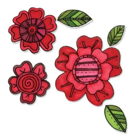 Fustella e Timbro Fiori - Framelits Flowers 5 - 1
