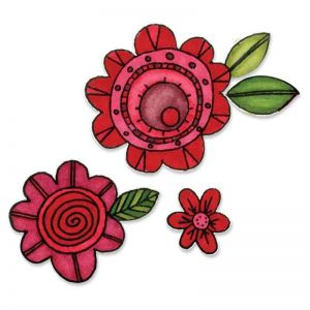 Fustella e Timbro Fiori -  Framelits Flowers 6 - 1