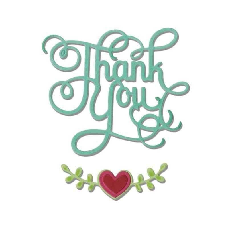Fustella con Scritta - Thinlits Thank...