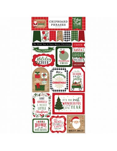 Echo Park Chipboard Phrases - Jingle All The Way - 1