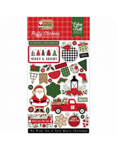 Echo Park Puffy Stickers - Jingle All The Way - 1