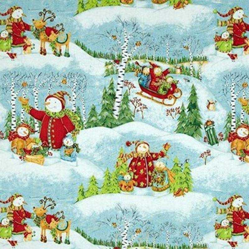 Tessuto Natale - Winter Woodlands - 1
