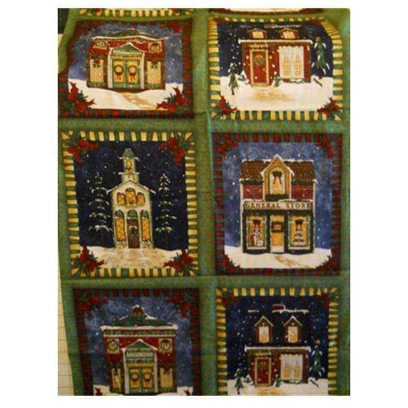 Tessuto Natale - Village Charm 269743
