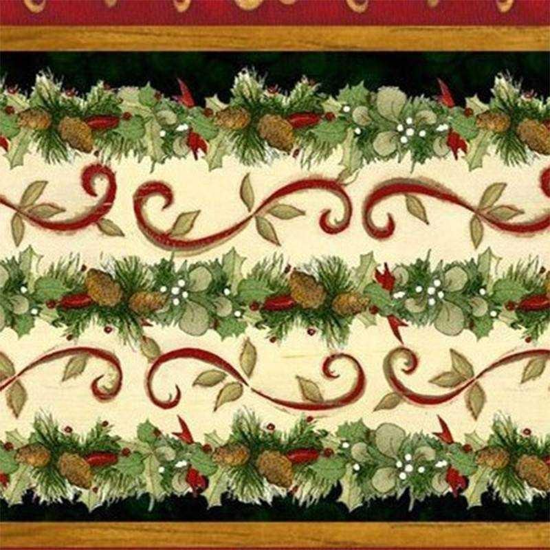 Tessuto Natale - Elegant Greenery
