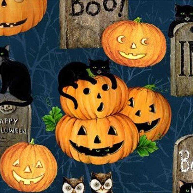 Tessuto Halloween - Pumpkin Hollow 066489 - 1