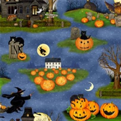 Tessuto Halloween - Pumpkin Hollow...