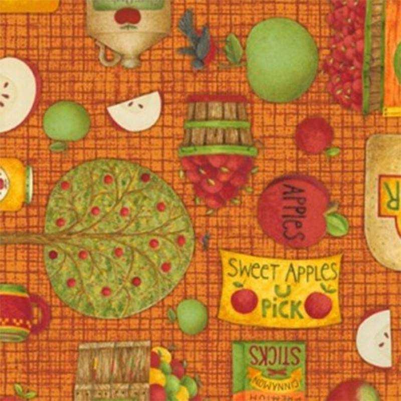 Tessuto Autunno - Apple Harvest 390827 - 1