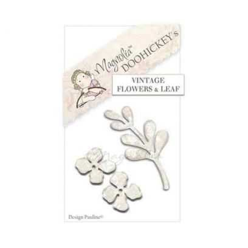 Fustella Magnolia Fiori e Foglie - Vintage Flowers & Leaf - 1
