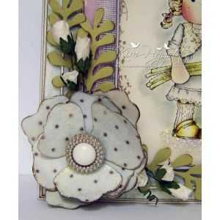 Fustella Magnolia Fiori e Foglie - Vintage Flowers & Leaf - 2
