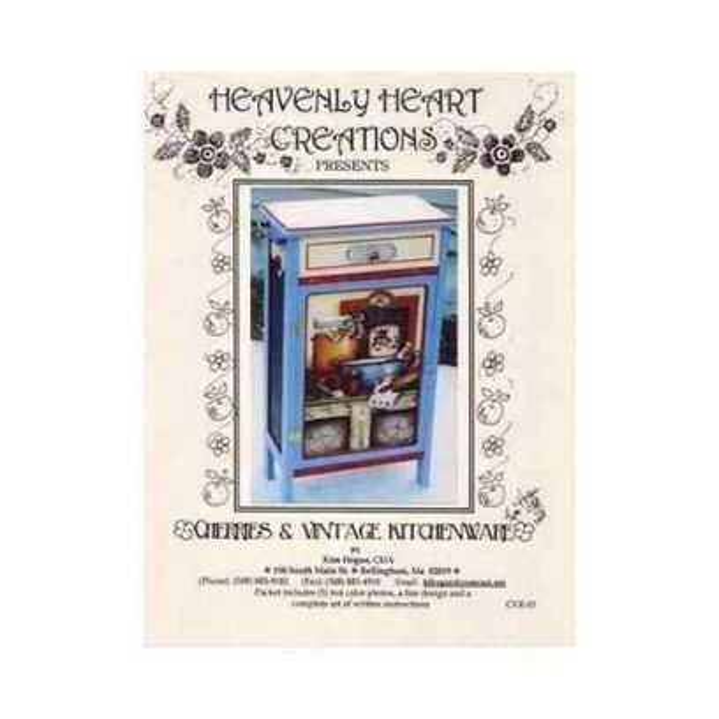 Pattern Kim Hogue - Cherries & Vintage Kitchenware - 1