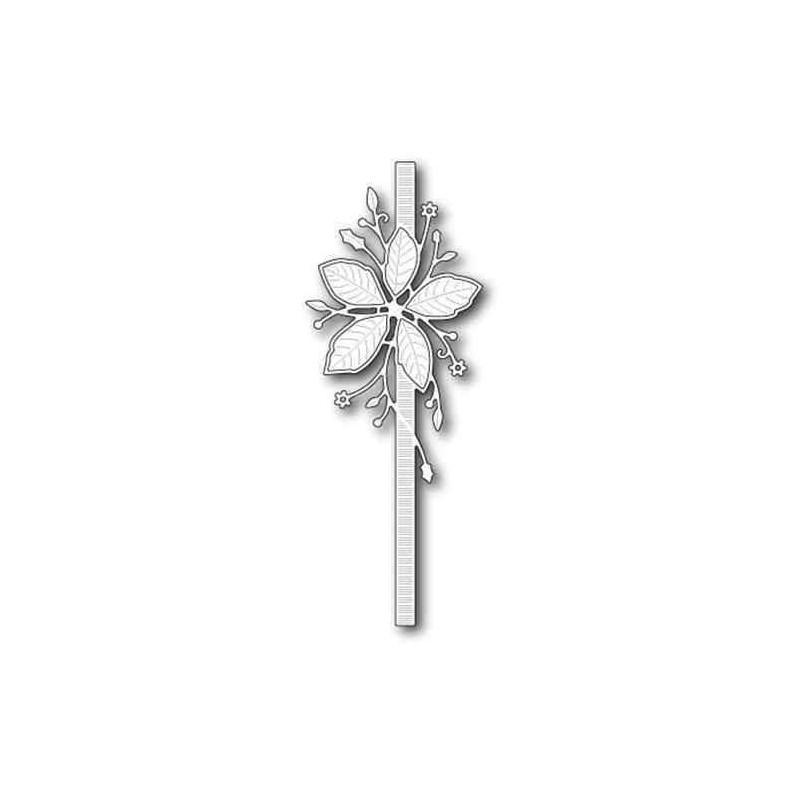 Fustella Nastro con Stella di Natale - Poinsettia Ribbon - 1
