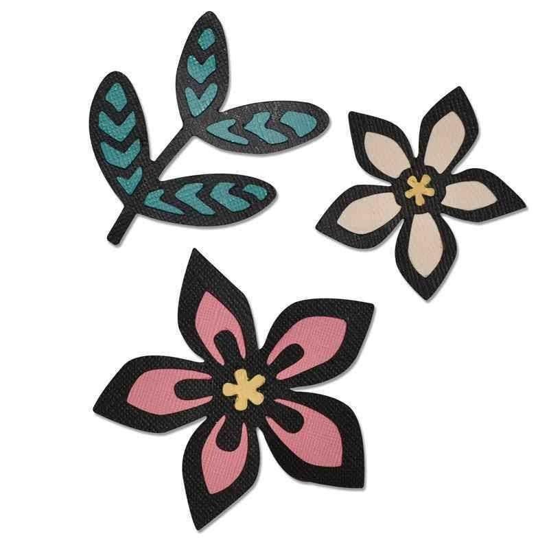 Fustella Fiori - Thinlits Intricate African Florals - 1