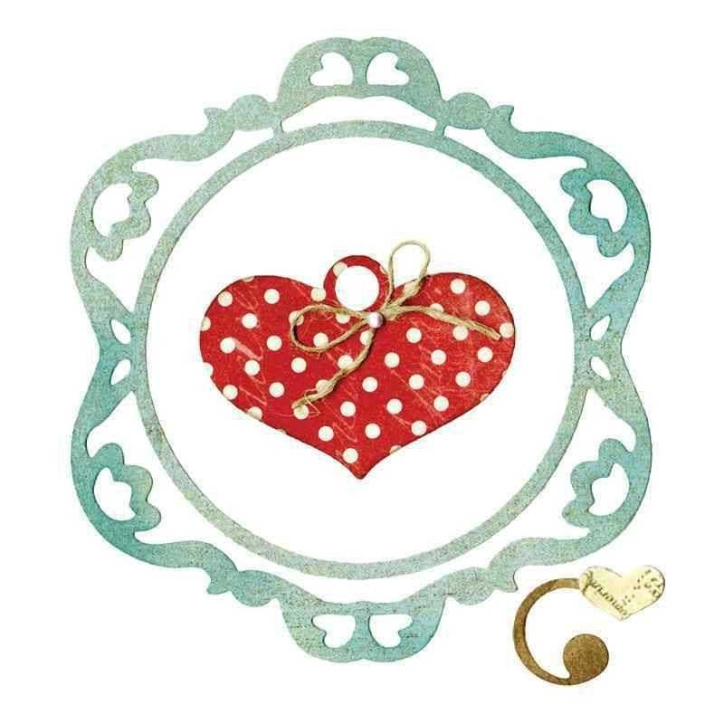 Fustella Cornice con Cuore - Thinlits Frame Ornamental Love - 1