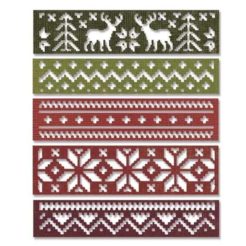 Fustella Tricot Natale - Thinlits -...